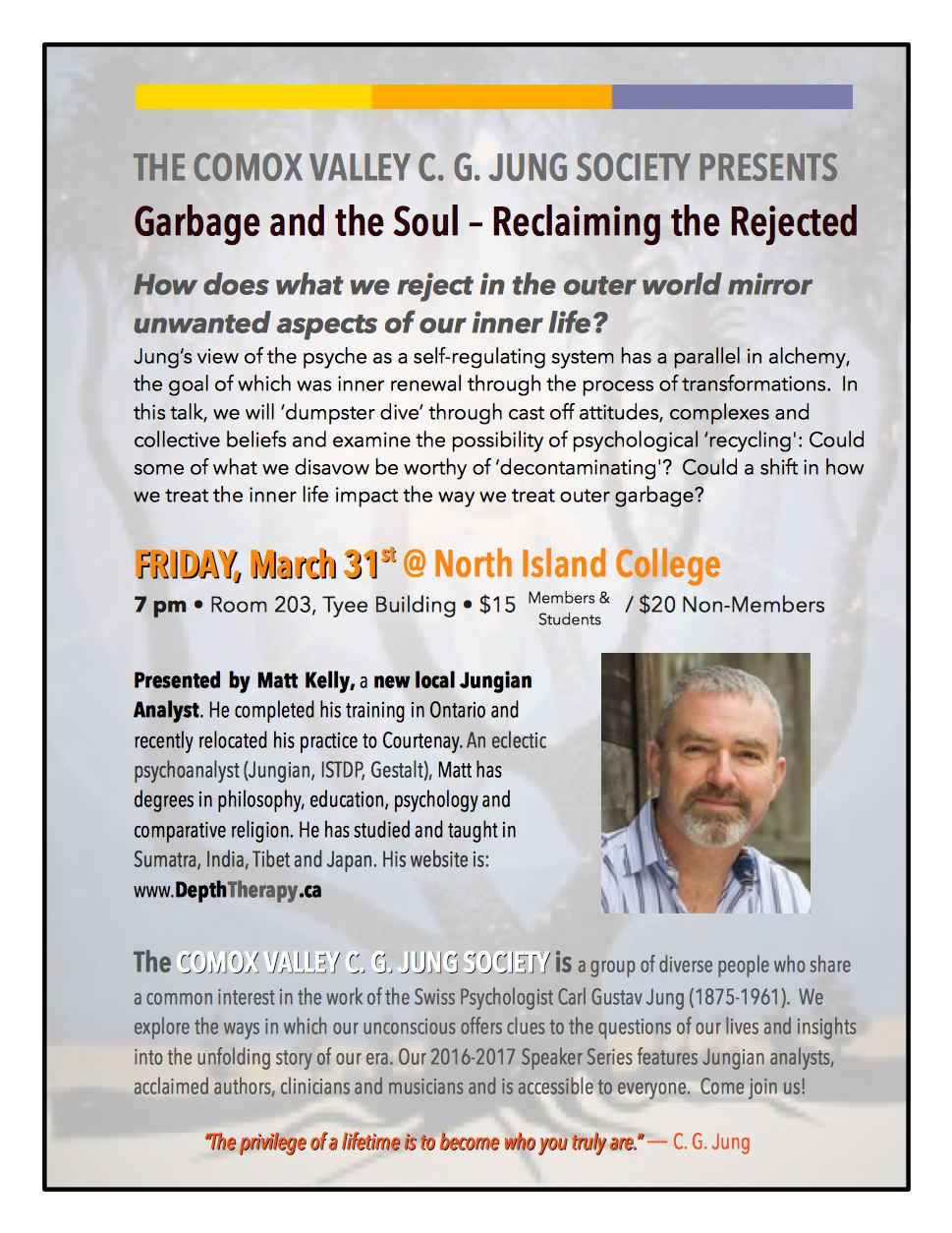 comox valley jung society garbage and the soul reclaiming the rejected